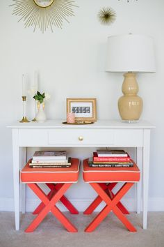 Love how @Gemma Ocampo-Sioson Guide styled the Threshold sunburst mirror and coral benches!