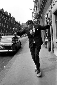 Frankie Howerd tries one of the first Skateboards in the uk, circa 1963