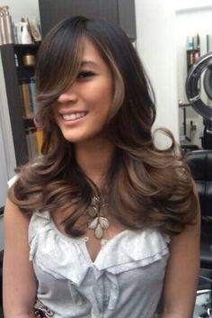 Ombre on black or dark brown hair by Guy Tang