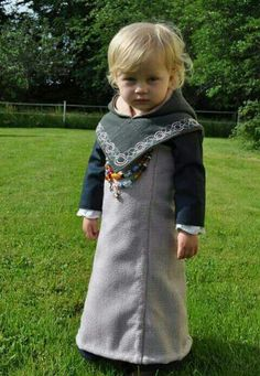 Adorable, little Viking girl