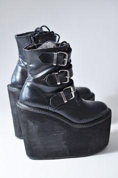 Platform goth boots