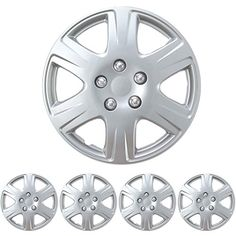 Amazon.com: Hub-Caps for Select Toyota Corolla (Pack of 4) 15 Inch Chrome Wheel Covers: Automotive