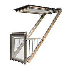 <ul><li>Balkon dakraam Fakro FGH-V afgewerkt met 2 lagen acryllak</li><li>Montage mogelijk in dakhelling 35-45 graden</li><li>Bovenste gedeelte van het FGH dakraam kan 90 graden open</li><li>Afgewerkt met 2 lagen blanke lak, op aanvraag wit afgelakt</li></ul>