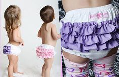 ADORABLE RUFFLED BABY BLOOMERS