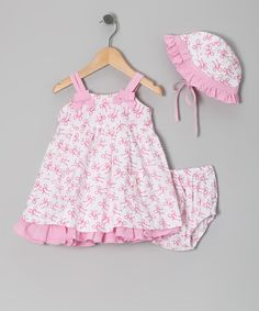 Take a look at this Pink Ribbon A-Line Dress Set - Infant by Butterflies & Moonbeams on #zulily today!