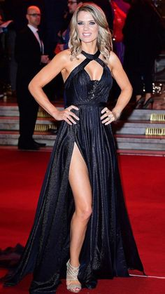Taking centre-stage: Charlotte Hawkins stunned in a sizzling gown at the ITV Gala at Londo. Sexy Older Women, Sexy Women, Beautiful Women Over 50, Beautiful Females, Charlotte Hawkins, Bollywood Actress Hot Photos, Tamil Actress, Hollywood Actress Photos, Tv Girls