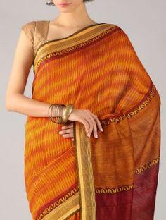 Orange Matka Silk Saree