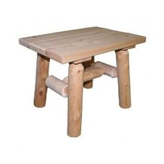 Patio End Tables Outdoor Porch Wood Accent Side Garden Furniture Stand Natural #Lakeland