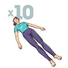 esercizio per il dolor alla schiena - rotazione del bacino