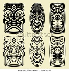 Vector Tiki Masks by Orgus88, via Shutterstock