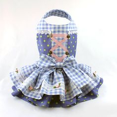 Dog dress Dog Harness Dress Ruffle Dress for by LittleDogFashion