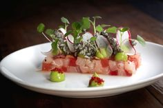 Hamachi Watermelon Wasabi & Puffed Rice