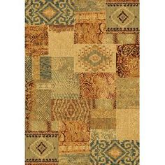 Galleria Ivory/Red Patchwork Rug - Wayfair