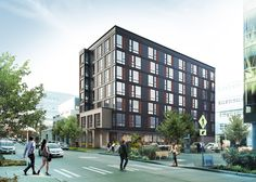 VIA's own 525 Boren Ave. in Seattle's South Lake Union-- Amazon adjacent, mixed-use residential mid-rise.