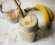 A delicious smoothie packed with fiber, protein & potassium. It's not only healthy but the most creamiest and delicious. recipe. Blend it up this week for a healthy smoothie breakfast or snack! ​It's easy, simple but most importantly healthy! Enjoy! Smoothie Packs, Smoothie Prep, Healthy Breakfast Smoothies, Yummy Smoothies, Banana Honey Cinnamon, Blender Recipes, Healthy Recipes, It's Easy, Peanut Butter
