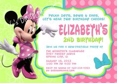 Minnie Mouse Bowtique Invitations Birthday by lifesdigitaldesigns, $14.00