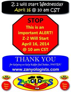 Please note the date change.  Thanks! Carl www.zanyologists.com