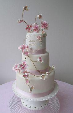 3 tier cake, beautiful sugar flower spray
