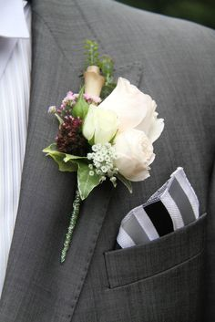 Special Groom's Rose Boutonniere