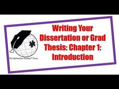Tip #1: How to Craft a Doctoral Dissertation, PhD Research or Graduate Thesis: Chap 1: Introduction - YouTube