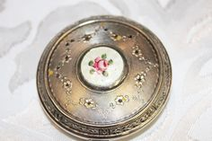 Guilloche Compact  Art Deco Compact by losttreasures2u on Etsy