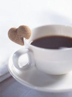 Heart shaped sugar with my coffee
