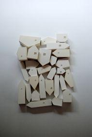 djurdjica kesic, houses (1) , 2000   Plaster, Perspex  500 x 350 x 55mm