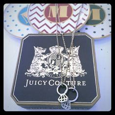 SALE!!! Juicy Couture Double Strand Ring Necklace Used condition! Authentic! Original Juicy Couture box not included.   I welcome reasonable price negotiation using the offer feature. ;)  Take advantage of the bundle discounts! Get more items in bigger savings!! ;)  I hope you have found what you LOVE in my closet!! Happy Shopping! :) Juicy Couture Jewelry Necklaces