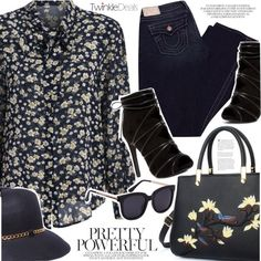 Floral top by vanjazivadinovic on Polyvore featuring moda, True Religion, 8, polyvoreeditorial and twinkledeals