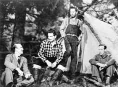 Laurence Olivier with Leslie Howard and Anton Walbrook in the 49th parallel
