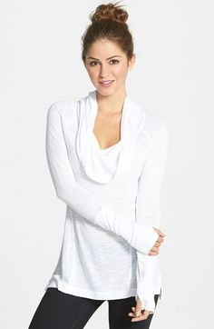 Zella 'All Shirred Up Too' Pullover (Online Only)   Nordstrom  black gray or white  $58