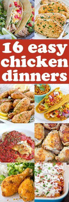 16 Easy Chicken Dinn
