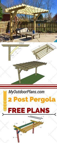 Cantilevered Pergola Cedar Structure With Mahogany