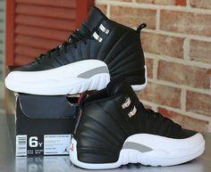 c7ee1b418f107b Air Jordan 12 Retro GS Playoffs Black Varsity Red White 153265-001 Kid s  Size 6Y
