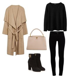 """""""coffe day"""" by jeaninekarchemonte ❤ liked on Polyvore featuring мода, J Brand, Salvatore Ferragamo и Louis Vuitton"""