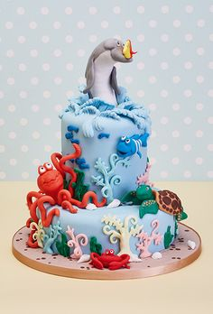 Under the Sea themed cake
