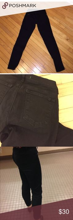 J Brand Skinnies in Black Gently used and in good condition. No signs of wear. Size 28. Style # 6200241. Inseam is about 30 inches. J Brand Jeans Skinny