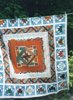 round/row robins - Page 8 Robins, The Row, Countries, Quilts, Blanket, Robin, Quilt Sets, Blankets, Log Cabin Quilts