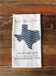 These save the date towels are so cool!  No doubt, your #wedding guests would absolutely love these!  From http://weddingchicks.com/2012/07/20/save-the-date-state-towels/  Photo Credit: http://weddingchicks.com