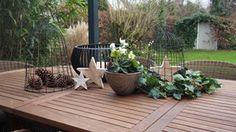 ...weihnachtliche Tischdeko draußen... von Worta