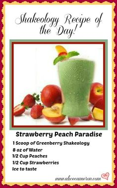 Coach Alice's Shakeology Recipe of the Day - Enjoy!  http://www.alicecameron.com