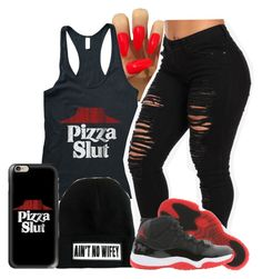 """Ily Pizza"" by reyanna2001 ❤ liked on Polyvore featuring Casetify and Retrò"