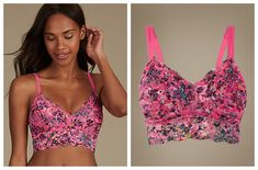 Lingerie Collection, Floral Lace, Crop Tops, Pink, Ebay, Women, Fashion, Moda, Fashion Styles