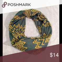 NWOT Green and yellow chevron scarf NWOT Accessories Scarves & Wraps