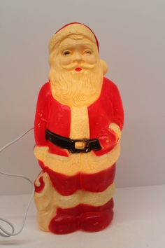 Vintage Blow Mold Lighted Santa 13 Inches