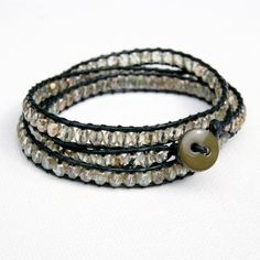 Beaded DIY Wrap Bracelet. I like the pictures in this tutorial.  I usually use Fireline when making this type of wrap bracelet.