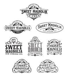 logo exploration for an ice cream company