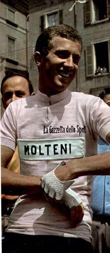 cca595058 Gianni Motta in the maglia rosa Cycling Jerseys