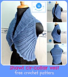 crochet circle vest free pattern More