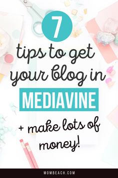 Check out these 7 tips on how to get your blog into Mediavine and make lots of money. Mediavine can be tough to get into, so I am sharing my top 7 tips on how to get your blog featured. #blogging #blogtips #blogging101 #whatismediavine Earn Money Online, Make Money Blogging, How To Make Money, How To Get, Blogging Ideas, Digital Marketing Business, Online Business, Marketing Quotes, Blog Planner